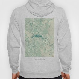 Canberra Map Blue Vintage Hoody