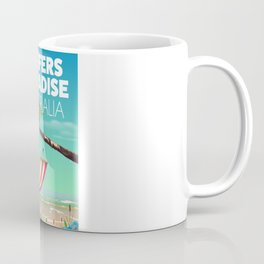 Surfers Paradise Australia beach travel poster. Coffee Mug