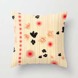 spotted blooms Throw Pillow