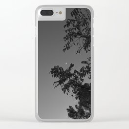 Daylight Moon Clear iPhone Case