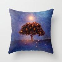 lights Throw Pillows featuring Energy & lights by Viviana Gonzalez