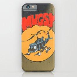 """Mugsy"" Military Huey Helicopter Art: Vietnam War Era iPhone Case"
