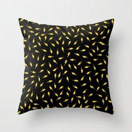 Yellow Bolt Throw Pillow