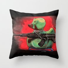 Camo Duck Throw Pillow
