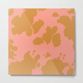 Cute Cow Pattern Metal Print