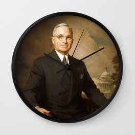 President Harry Truman Wall Clock
