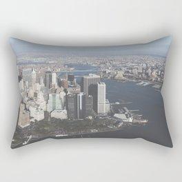 NYC Downtown Aerial Rectangular Pillow