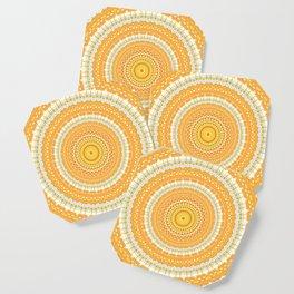 Marigold Orange Mandala Design Coaster