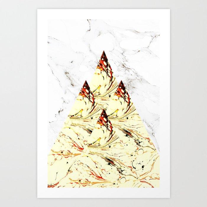 Glory Mountains Art Print
