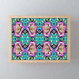 Ancient Vessel, Neon Blips Framed Mini Art Print