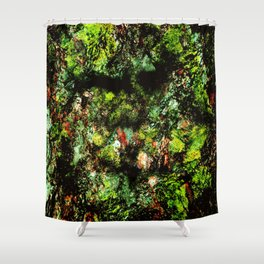 Old Tree Face Shower Curtain