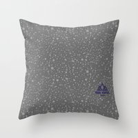 Trail Status / Stone Grey Throw Pillow