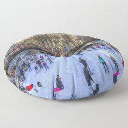 New York Ice Skating Floor Pillow