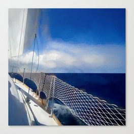 I am sailing Canvas Print