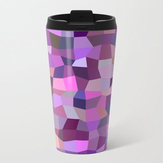 Purplish tile mosaic Metal Travel Mug