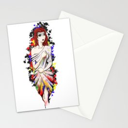Dripping drape of colours Stationery Cards