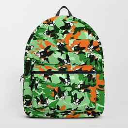 Mirabelle the boston terriers green camo Backpack