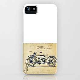 HD Motorcycle Patent - Circa 1924 iPhone Case