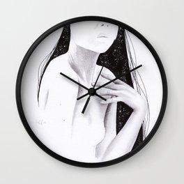 Mixed media study Wall Clock
