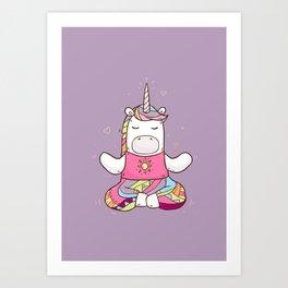 Unicorn Meditation Art Print