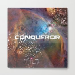 Conqueror Space Trip To The Limits Of The Universe - White Metal Print
