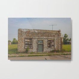 Stone Building, Regan, North Dakota 2 Metal Print