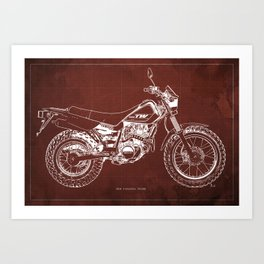 Motorcycle blueprint art prints society6 malvernweather Images