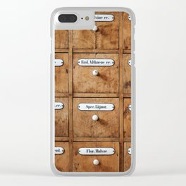 Pharmacy storage Clear iPhone Case