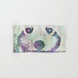 Red Panda Abstract  mixed media digital art collage Hand & Bath Towel