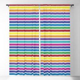 Bold Rainbow Stripes Pattern Blackout Curtain