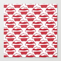 Red cupcakes Canvas Print