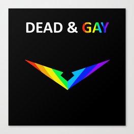 Paladin V Dead & Gay Light Text Canvas Print