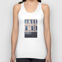 memphis Tank Tops featuring Memphis Wall Drawing by wendygray