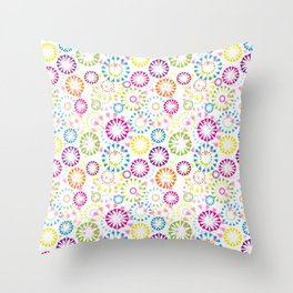 Cute Colors Throw Pillow