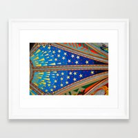 real madrid Framed Art Prints featuring Ceilings in Santa María la Real de la Almudena, Madrid by Valentina De Santis
