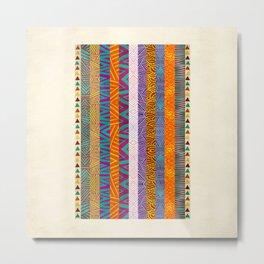 Tribal Stripes Metal Print