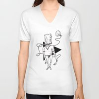 bag V-neck T-shirts featuring Bag by Hopler Art