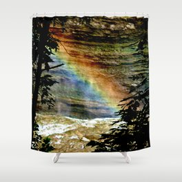 Rainbows on the Rocks Shower Curtain