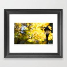 Blurry Foliage Framed Art Print