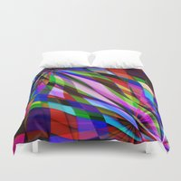 planes Duvet Covers featuring Curved Planes by Another Coat