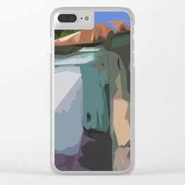 ST. Maarten Color Block House  Clear iPhone Case