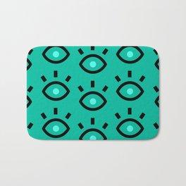 Eyes green Bath Mat
