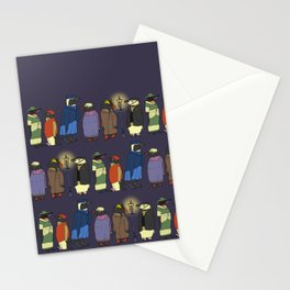 Victorian Penguins Stationery Cards