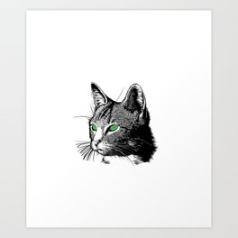 Hello Darkness My Old Friend Funny Cat Lovers Cat Mom Dad Art Print