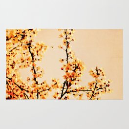 SPRING BLOSSOMS IN ORANGE Rug