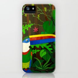 Il Tucano Pensieroso (The Thoughtful Toucan) iPhone Case