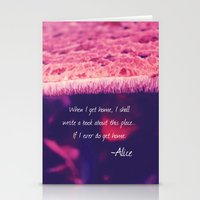 wonderland Stationery Cards featuring Wonderland by Josrick
