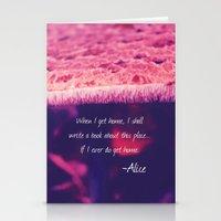 alice in wonderland Stationery Cards featuring Wonderland by Josrick