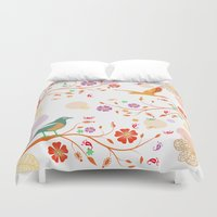 autumn Duvet Covers featuring Autumn by Kakel