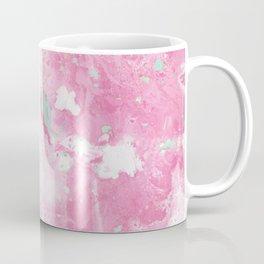 Pink and Mint Marble Coffee Mug